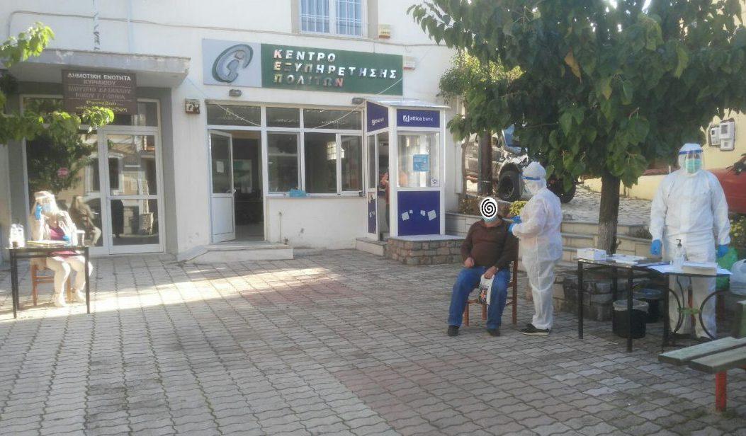 Συνέχιση διενέργειας γρήγορων ελέγχων ανίχνευσης κορωνοϊού στην Τοπική Κοινότητα Κυριακίου την Πέμπτη